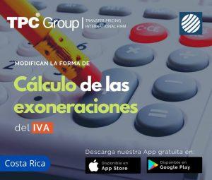 Modifican la forma de cálculo de las exoneraciones del IVA en Costa Rica