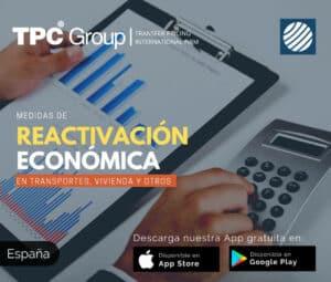 Medidas de reactivación económica en transportes,vivienda y otros en España