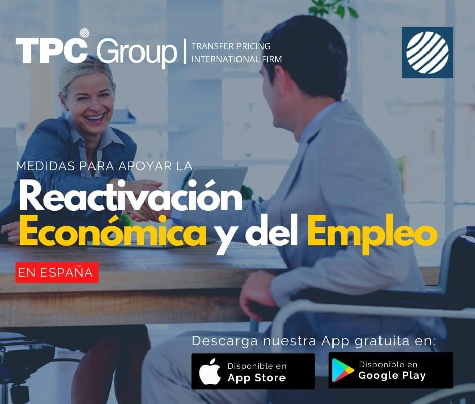 Medidas para apoyar la reactivación económica y del empleo en España