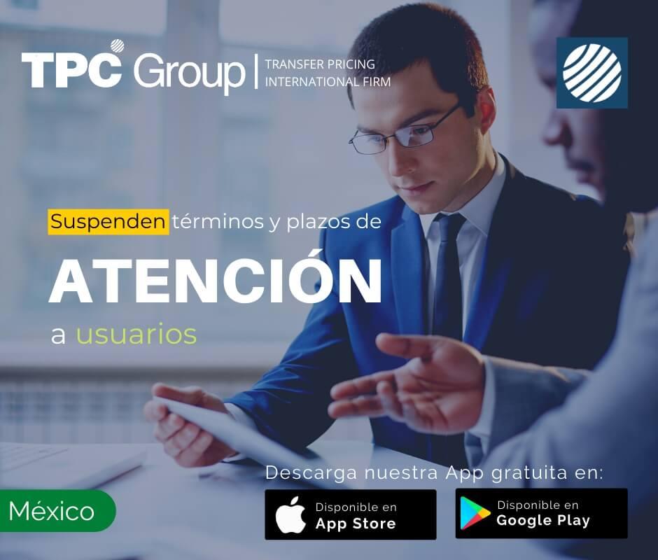 Suspenden términos y plazos de atención a usuarios en México