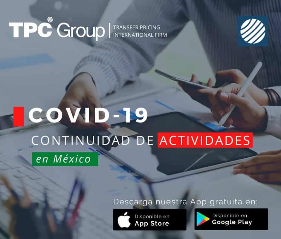 COVID-19 continuidad de actividades en México