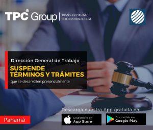 Dirección General de Trabajo suspende términos y trámites que se desarollen presencialmente en Panamá