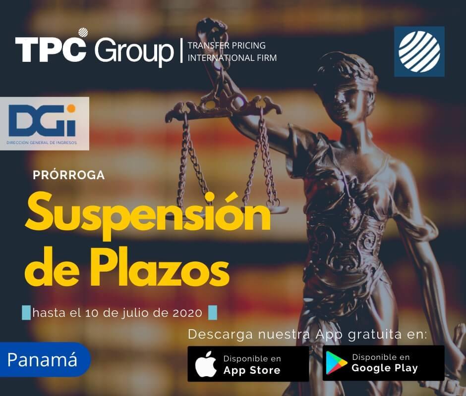 Prórroga suspensión de plazos hasta el 10 07 2020 en Panamá