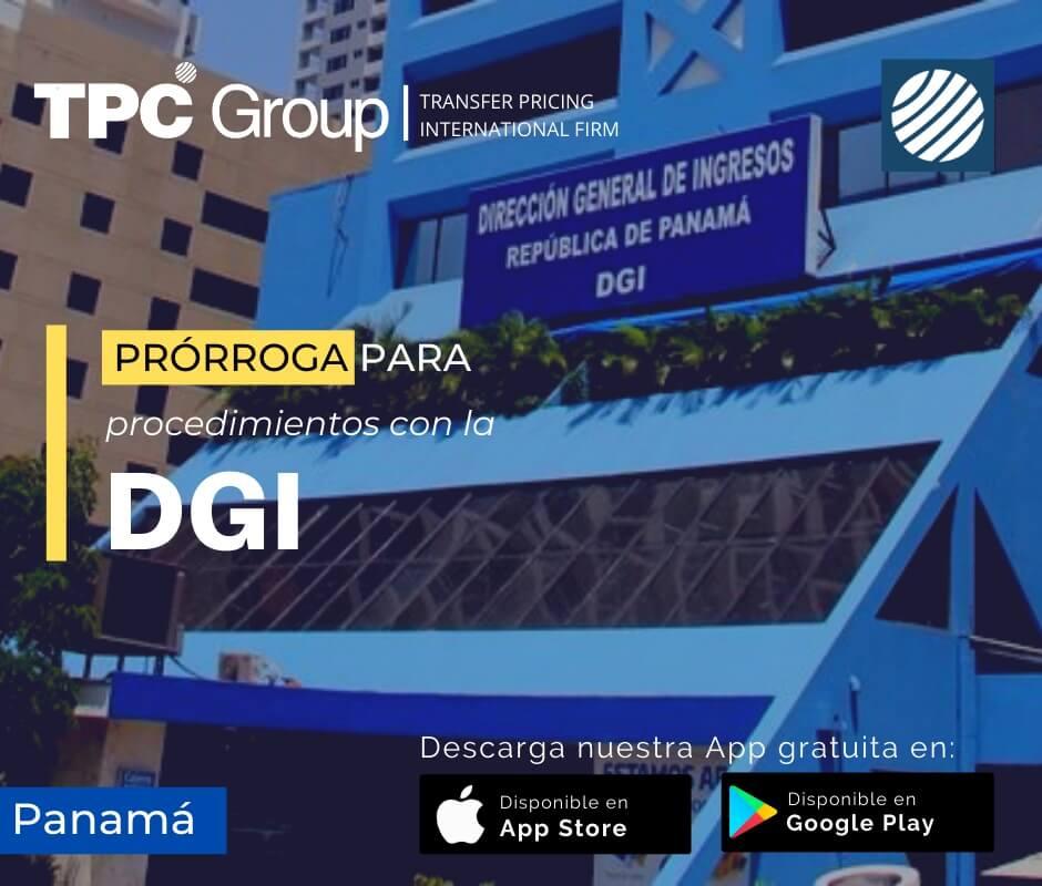 Prórroga para procedimientos con la DGI en Panamá