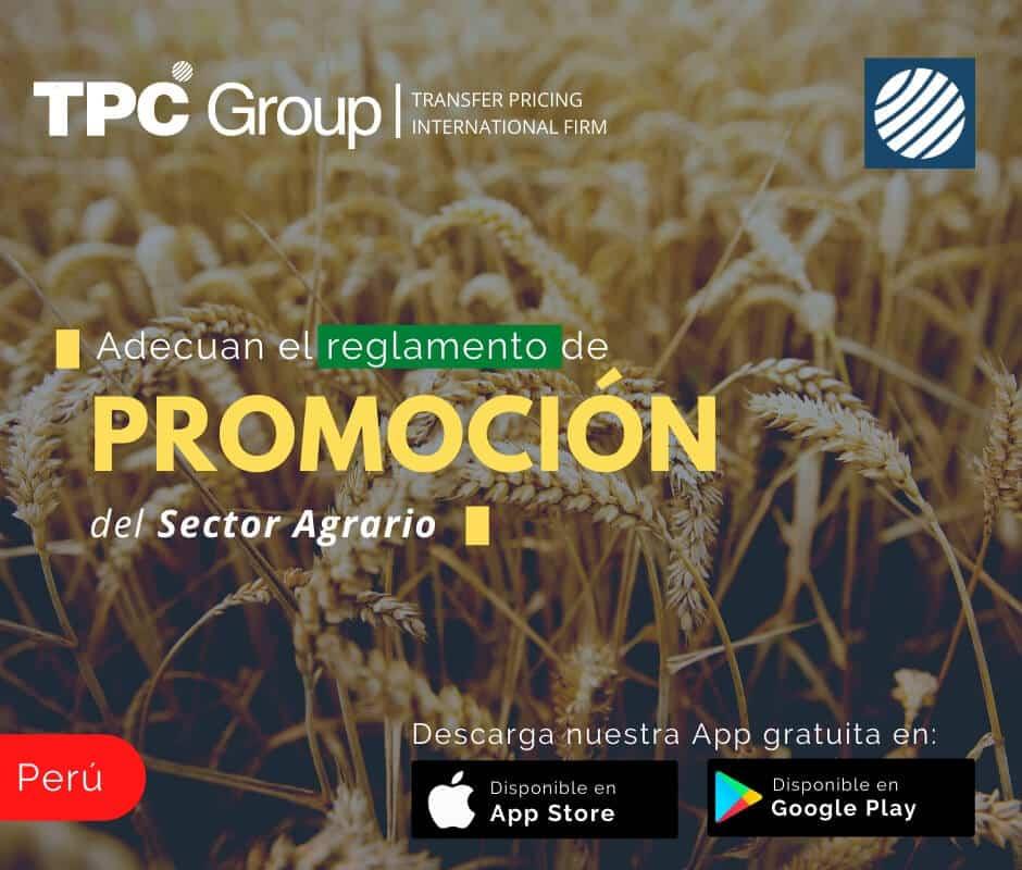 Adecuan el reglamento de promoción del sector agrario en Perú