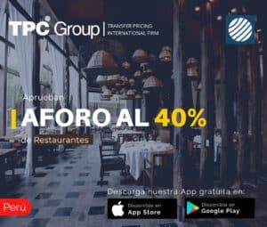 Aprueban aforo al 40% de restaurantes en Perú