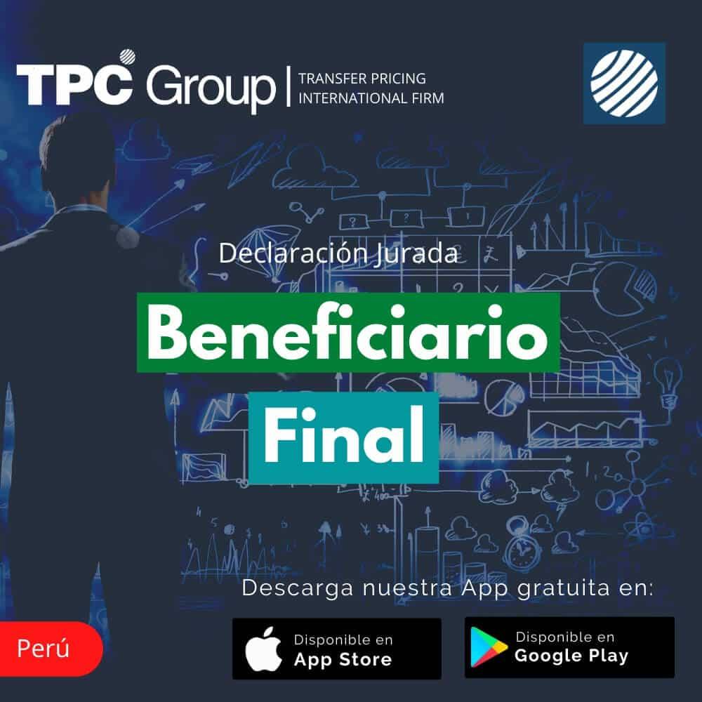 Declaración Jurada Beneficiario Final en Perú