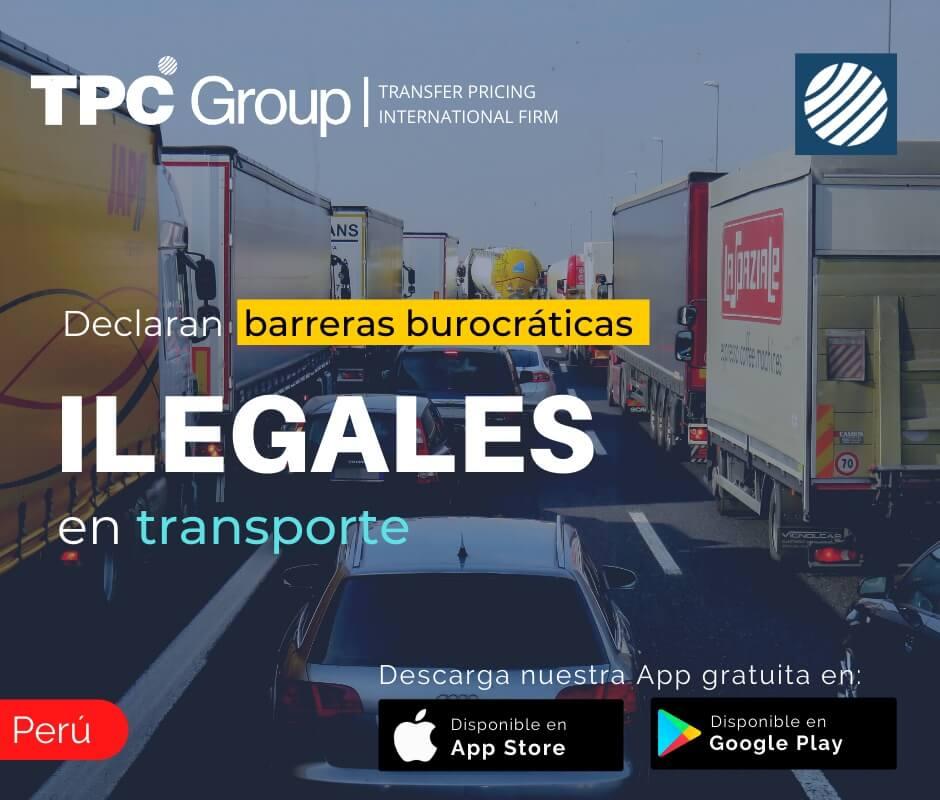 Declaran barreras burocráticas en transporte en Perú