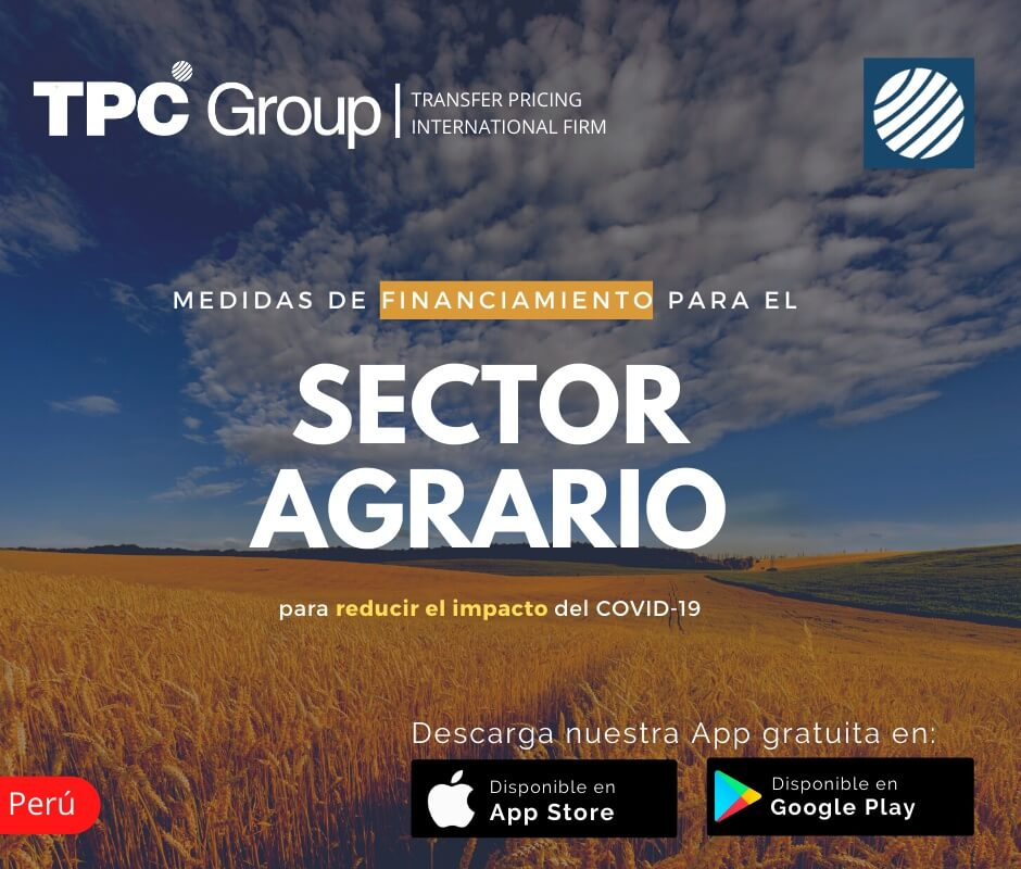 Medidas de financiamiento para el sector agrario en Perú