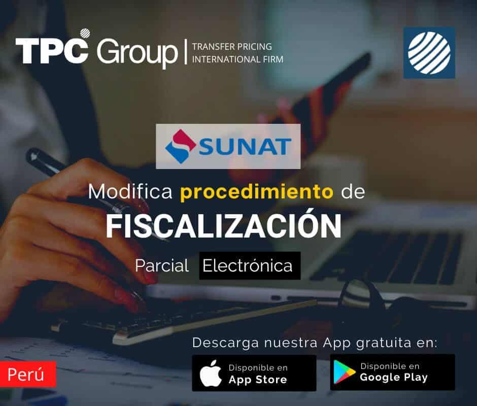 Modifican procedimiento de fiscalización parcial electrónica en Perú