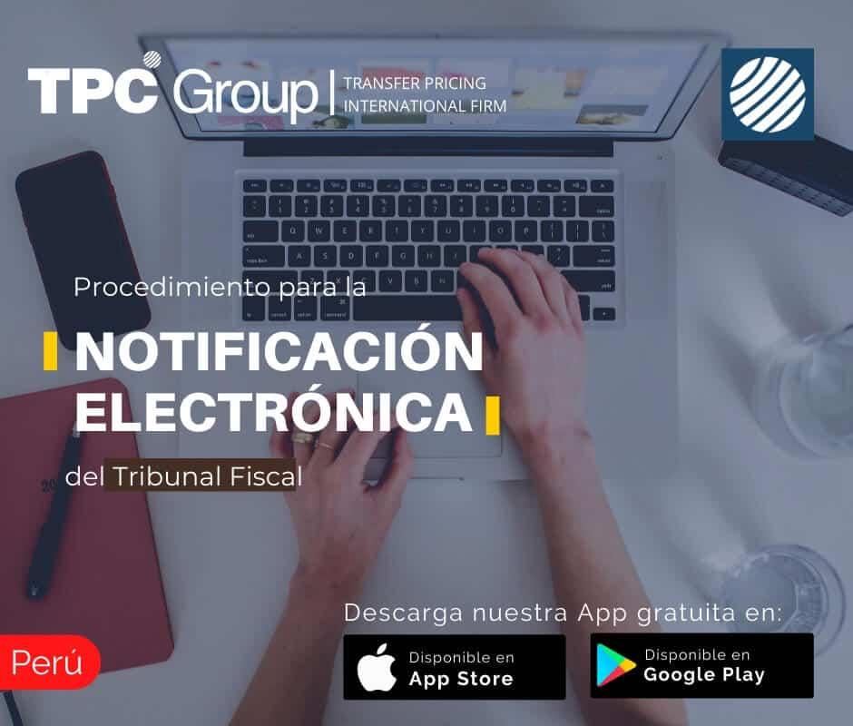Procedimiento para notificación electrónica del Tribunal Fiscal en Perú