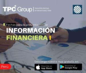 Fechas para la presentación de información financiera en Perú