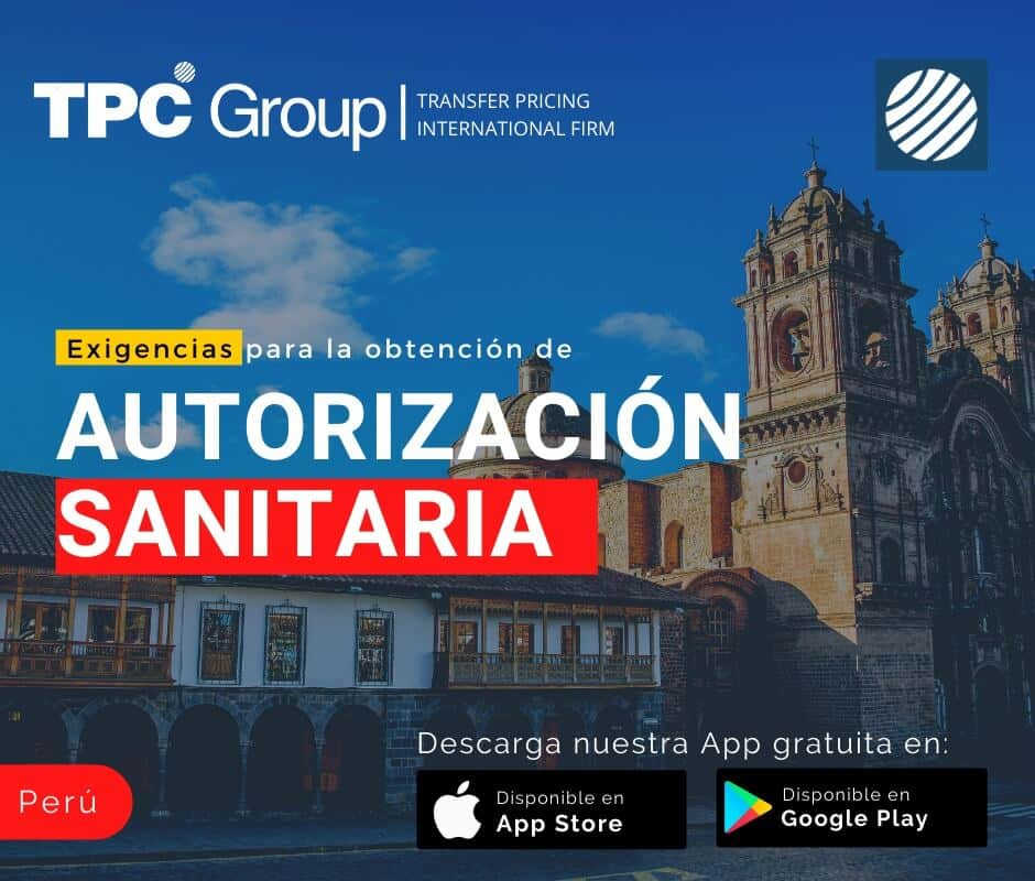 Exigencia para la obtención de autorización sanitaria en Perú
