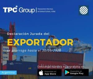 Declaración Jurada del Exportador