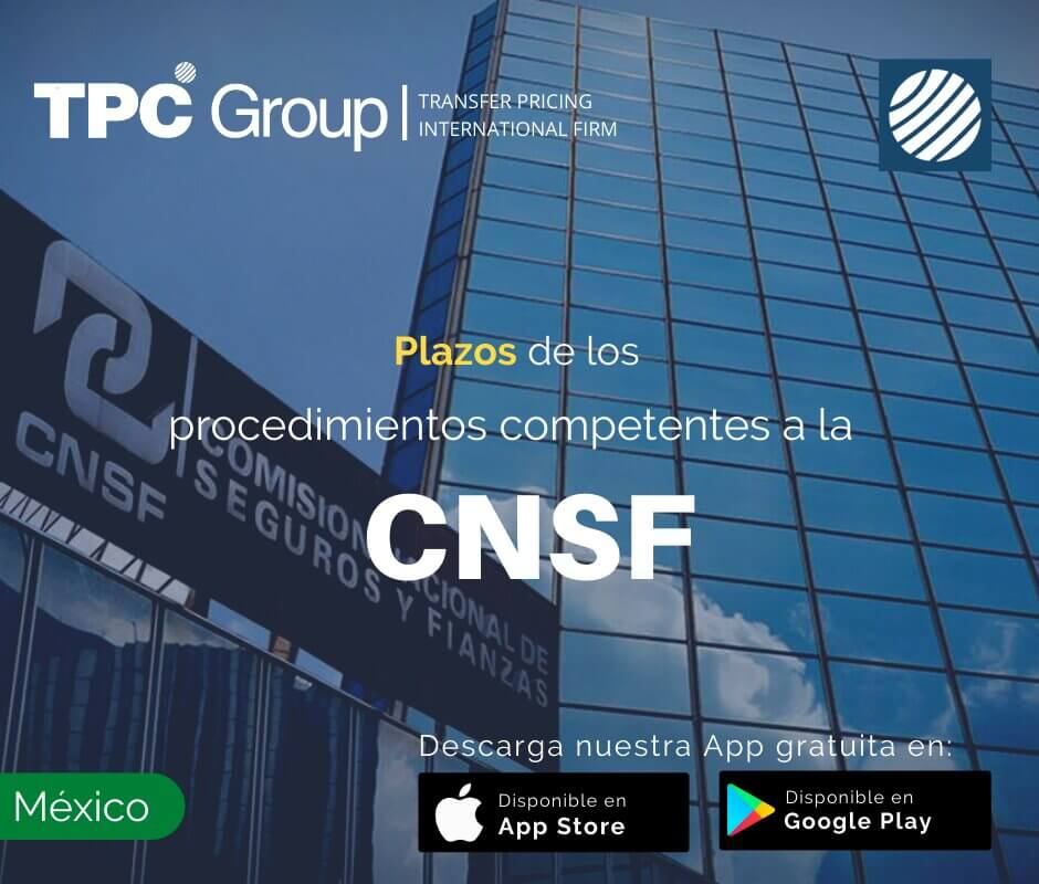 Plazos de los Procedimientos Competentes a la CNSF