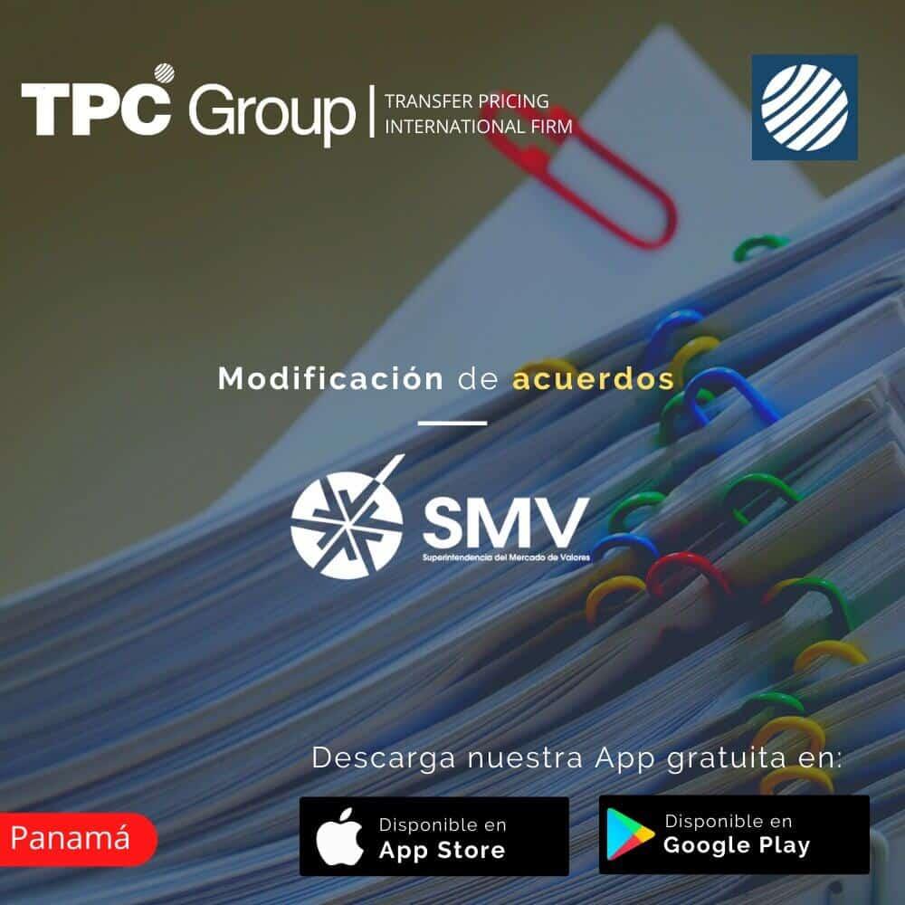 Modificación de Acuerdos de la SMV