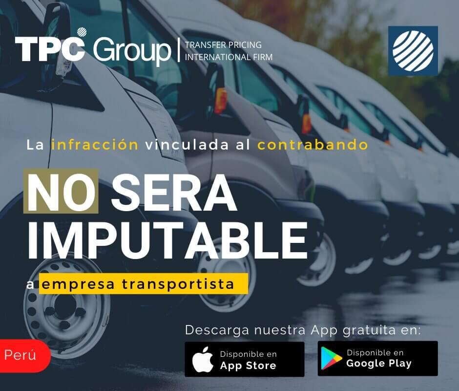 La Infracción Vinculada al Contrabando No Será Imputable a Empresa Transportista