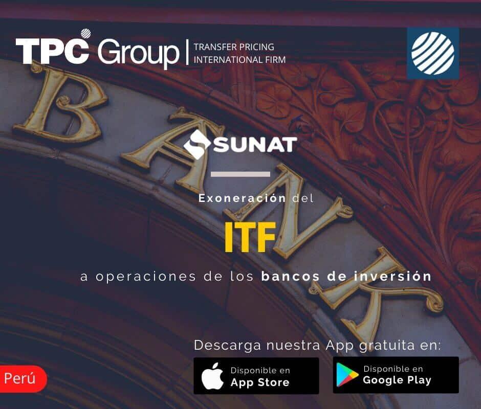 Exoneración del ITF a Operaciones