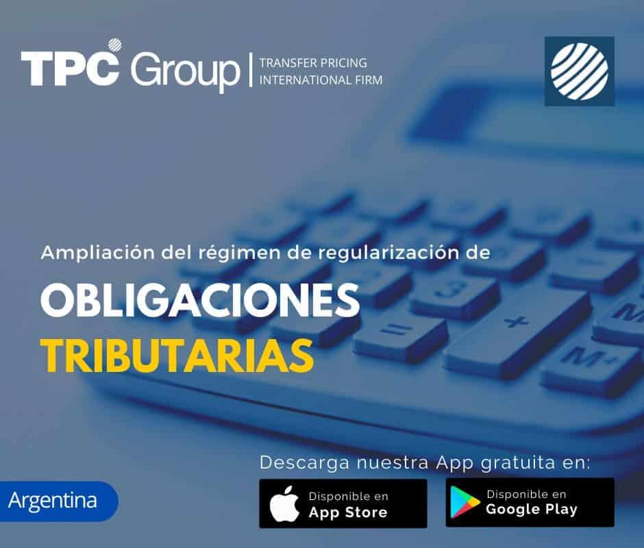 Ampliacion del regimen de regularizacion de obligaciones tributarias en Argentina