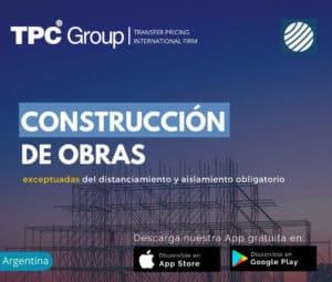 Construcción de obras exceptuadas del distanciamiento y aislamiento obligatorio en Argentina