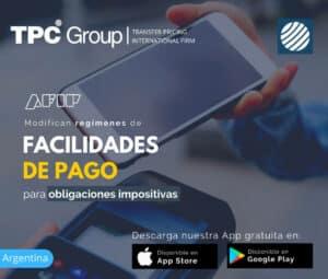 Modifican regimenes de facilidades de pago para obligaciones impositivas en Argentina