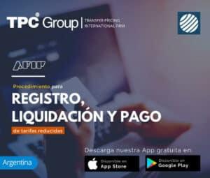 Procedimiento para registro, liquidación y pago de tarifas reducidas en Argentina