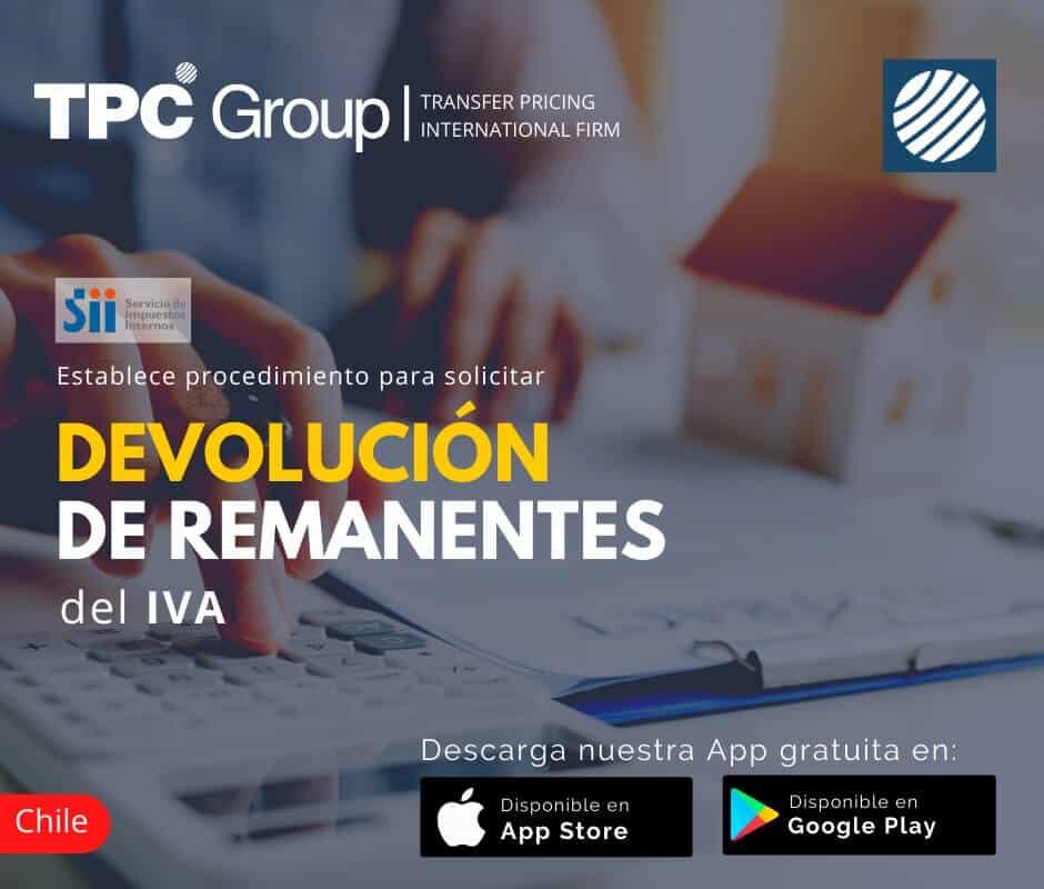 Establece procedimiento para solicitar devolución de rematantes del IVA en Chile