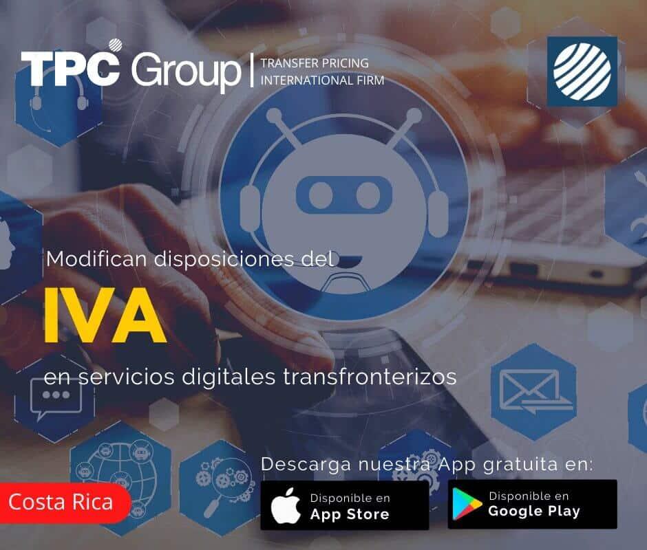 Modifican Disposiciones del IVA Servicios Digitales