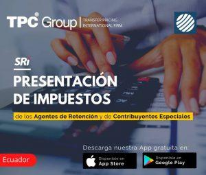 Presentacion de impuestos de los agentes de retencion y de contribuyentes especiales en Ecuado