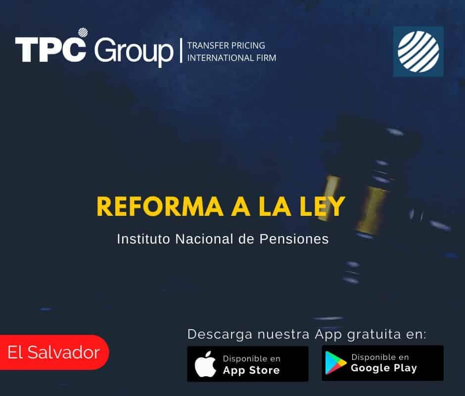 El Salvador Reforma a la Ley
