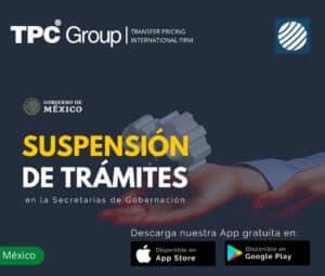 Suspensión de Trámites en la Secretarias de Gobernación