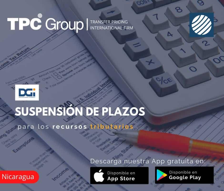 Suspensio de plazos para los recursos tributarios en Nicaragua