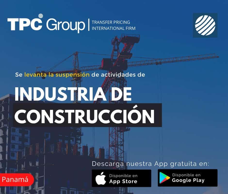 Se levanta la suspensión de actividades de industria de construcción en Panamá