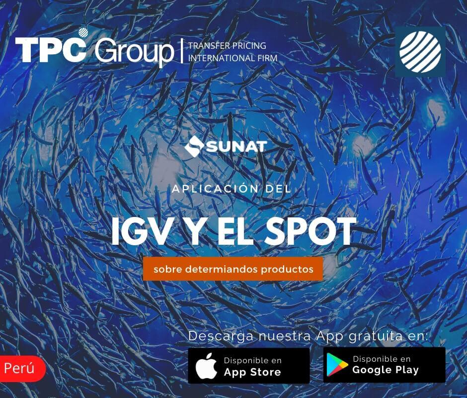 Aplicacion del IGV y el SPOT sobre determinados productos en Peru