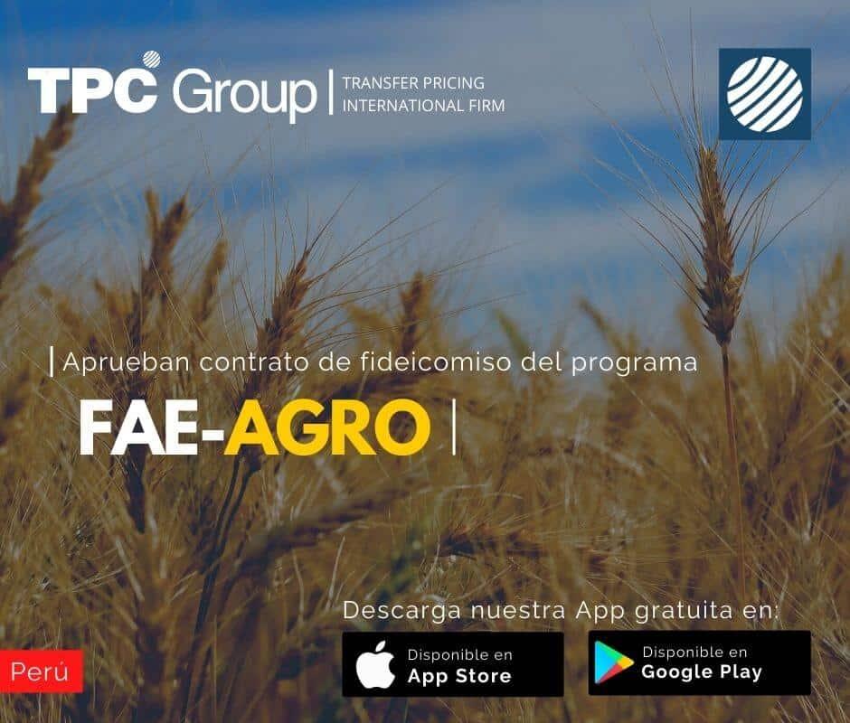 Aprueban Contrato de Fideicomismo Programa FAE AGRO