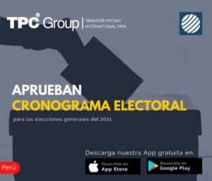 Aprueban Cronograma Electoral para las Elecciones