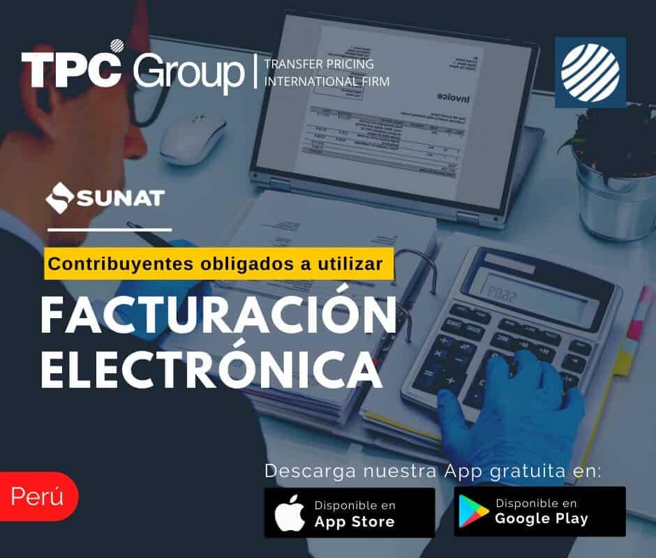 Contribuyentes obligados a utilizar la facturación electrónica en Perú