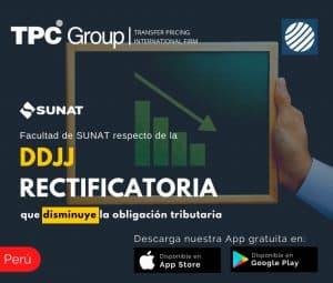 Facultad de SUNAT respecto de la DDJJ RECTIFICATORIA que disminuye la obligacion tribtuaria en Peru