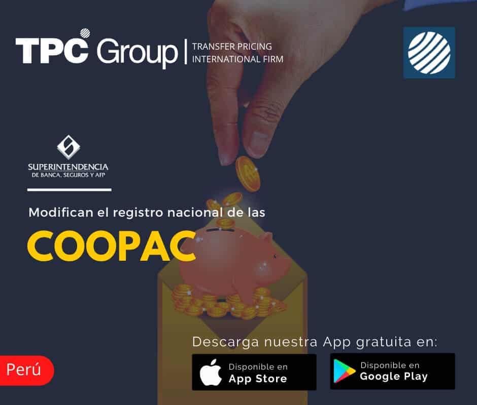 Modifican el registro nacional de las COOPAC en Perú