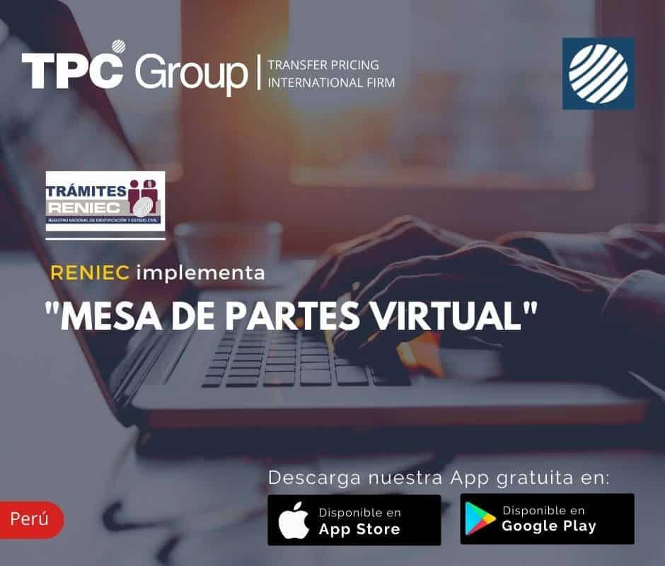 RENIEC Implementa Mesa de Partes Virtual