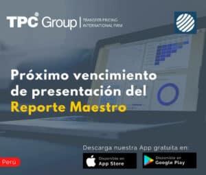 Vencimiento proximo del Reporte Maestro 5 en Peru