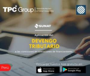 Aplicación dle deventro tributario a las comisiones en operaciones de financiamiento en Perú