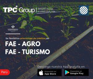 Se flexibiliza provisiones de créditos de FAE-AGRO y FAE-TURISMO en Perú