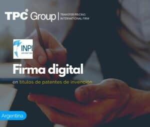 Firma Digital en Títulos de Patentes