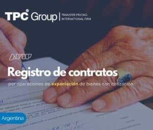 Registro de Contratos por Operaciones de Exportación