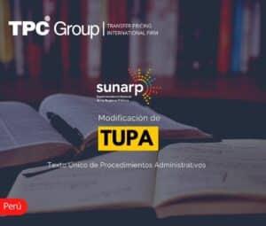 Modificación de TUPA