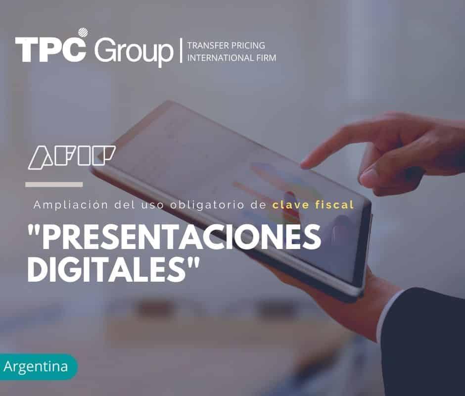 """Ampliación del Uso Obligatorio de Clave Fiscal """"Presentaciones Digitales"""""""