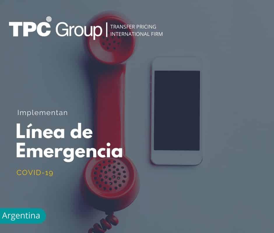 IMPLEMENTAN LÍNEA DE EMERGENCIA COVID - 19