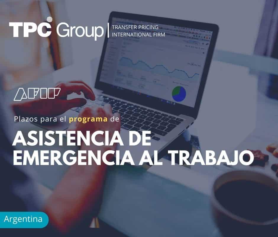 PLAZOS PARA EL PROGRAMA DE ASISTENCIA DE EMERGENCIA AL TRABAJO
