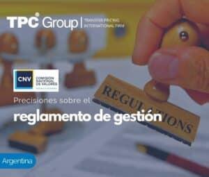 PRECISIONES SOBRE EL REGLAMENTO DE GESTIÓN
